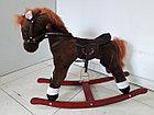 Музыкальная лошадка-качалка для детей. Отличный подарок, фото 3