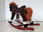 Музыкальная лошадка-качалка для детей. Отличный подарок, фото 2
