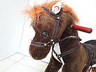 Музыкальная лошадка-качалка для детей. Отличный подарок, фото 4