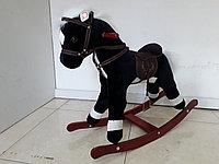 Музыкальная лошадка-качалка для детей. Отличный подарок. Kaspi RED. Рассрочка.