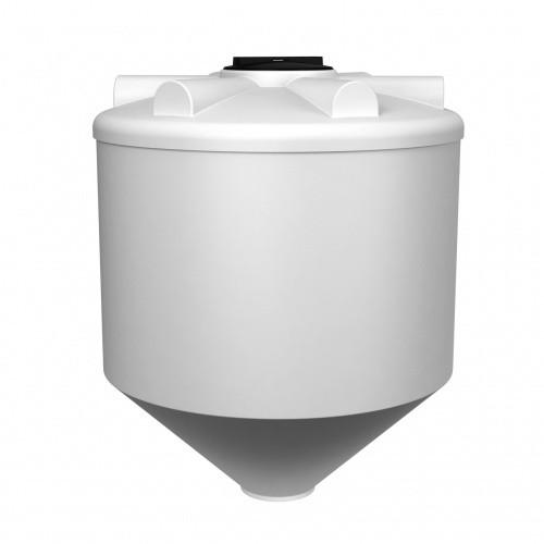 Емкость ФМ 1000 с крышкой с дыхательным клапаном белый
