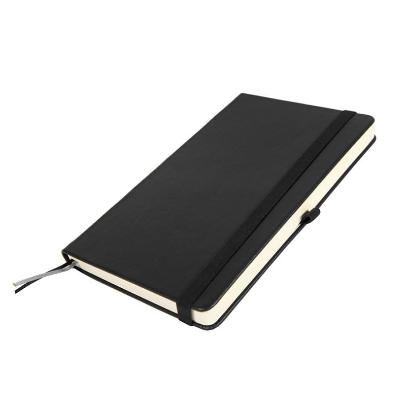 Бизнес-блокнот GLORI, A5, черный, твердая обложка, в линейку, Черный, -, 21220 35