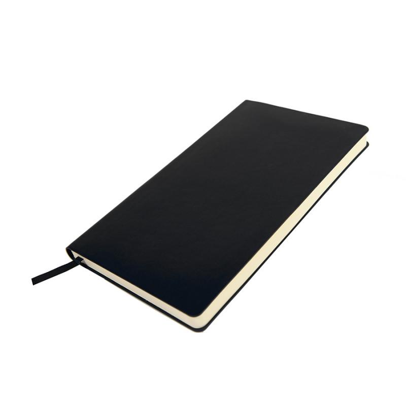Бизнес-блокнот SMARTI, A5, черный, мягкая обложка, в клетку, Черный, -, 21234 35