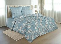 Комплект постельного белья Bali mist, цветы, голубой
