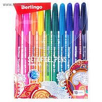 """Набор гелевых ручек 10 цветов, Berlingo """"Triangle Gel"""" 0.5мм, микс"""