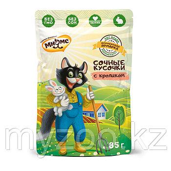 """Мнямс Кот Федор влажный корм для взрослых кошек с кроликом """"Фермерская ярмарка"""" - 85 г"""