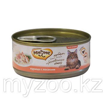 Мнямс консервы Курица с лососем в нежном желе для кошек - 70 гр