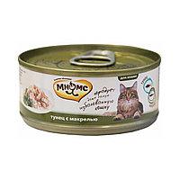 Мнямс консервы Тунец с макрелью в нежном желе для кошек - 70 гр
