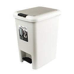 Ведро для мусора 2в1 с педалью пластмассовое 10
