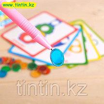 Магнитный набор «Мозаика», цвета, формы, магнитная ручка, фишки, задания, фото 2