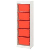 Стеллаж для игрушек ТРУФАСТ оранжевый 46x30x145 см ИКЕА, IKEA