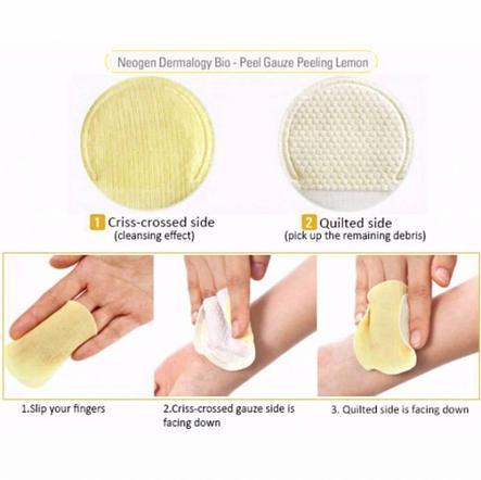 Осветляющие пилинг-диски с экстрактом лимона Neogen Dermalogy Bio-Peel Gauze Peeling Lemon (штучно), фото 2