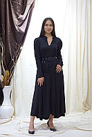 Эффектное черное платье миди Турция
