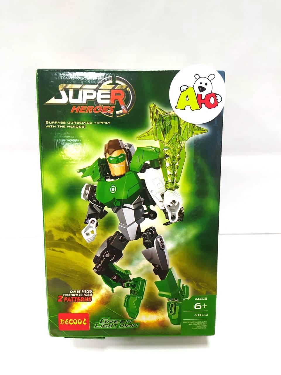 "Decool Super Heroes 6002 Конструктор ""Фигурка Зелёный Фонарь"" (Аналог LEGO)"