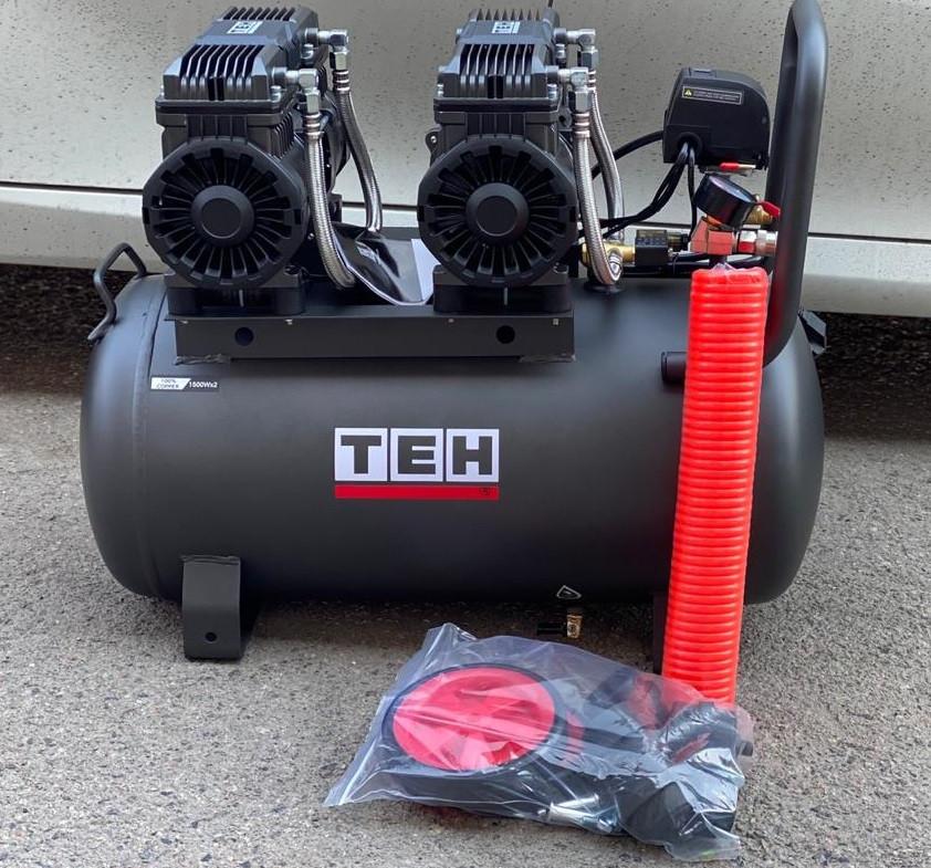 ТЕН 3квт, 50л,420л/мин, бесшумный, безмасленный, воздушный компрессор