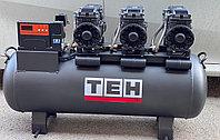Воздушный бесшумный компрессор, безмасляный TAC 100 L ( 600л/м )