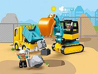 LEGO DUPLO 10931 Грузовик и гусеничный экскаватор, конструктор ЛЕГО
