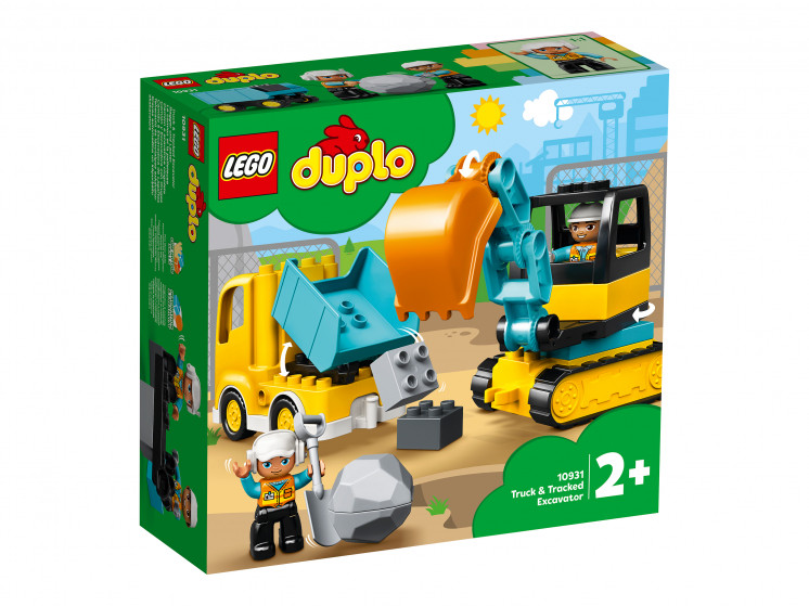 LEGO DUPLO 10931 Грузовик и гусеничный экскаватор, конструктор ЛЕГО - фото 2