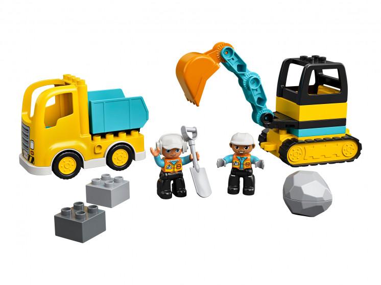 LEGO DUPLO 10931 Грузовик и гусеничный экскаватор, конструктор ЛЕГО - фото 3