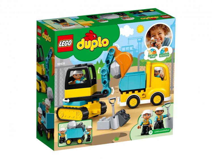 LEGO DUPLO 10931 Грузовик и гусеничный экскаватор, конструктор ЛЕГО - фото 4