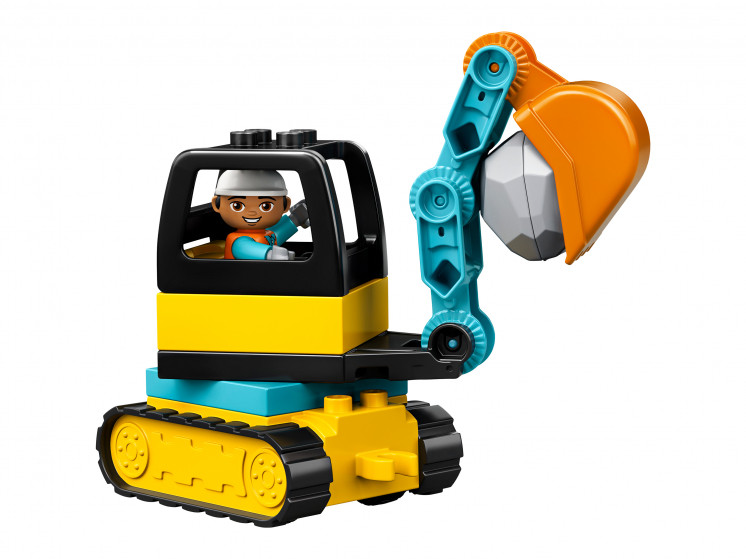 LEGO DUPLO 10931 Грузовик и гусеничный экскаватор, конструктор ЛЕГО - фото 6