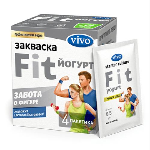 Закваска Fit-Йогурт VIVO, 4 саше по 0,5гр.
