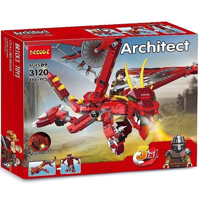 "Decool Architect 3120 Конструктор 3 в 1 ""Дракон"" (Аналог LEGO)"