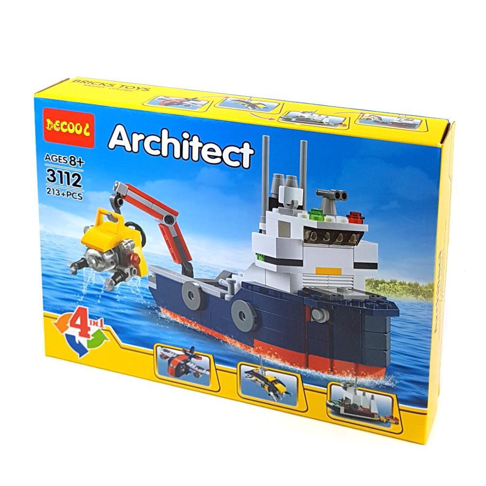 "Decool Architect 3112 Конструктор 3 в 1 ""Корабль"" (Аналог LEGO)"