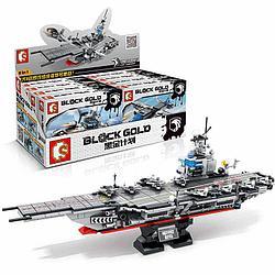 """Block Gold 12081-12088 Военный Конструктор """"Собери Авианосец"""", в ассортименте (Аналог LEGO)"""