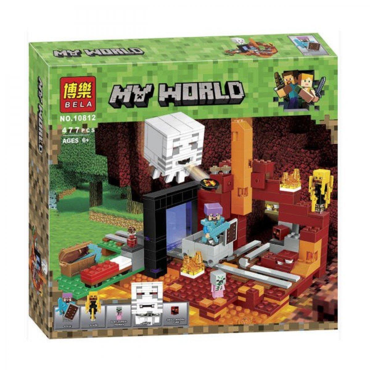 """Bela My World 10812 Конструктор """"Портал в Подземелье"""" Майнкрафт (Аналог LEGO 21143)"""