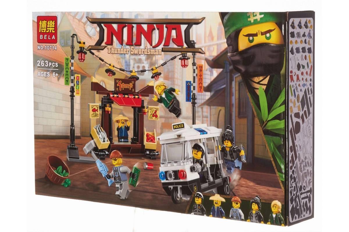 """Bela Ninja 10714 Конструктор """"Ограбление киоска в Ниндзяго Сити """" (Аналог LEGO 70607)"""