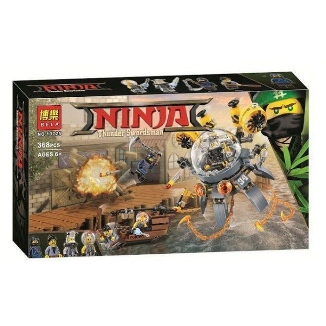 """Bela Ninja 10725 Конструктор """"Летающая подводная лодка"""" (Аналог LEGO 70610)"""
