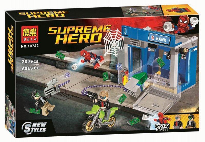 "Bela Supreme Hero 10742 Конструктор ""Ограбление банкомата"" (Аналог LEGO 76082)"