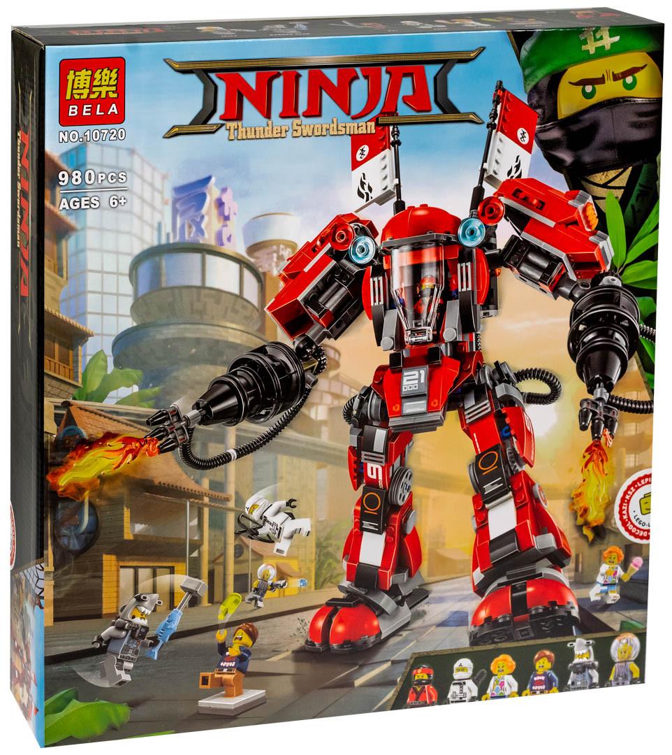 """Bela Ninja 10720 Конструктор """"Огненный робот Кая"""" (Аналог LEGO 70615)"""