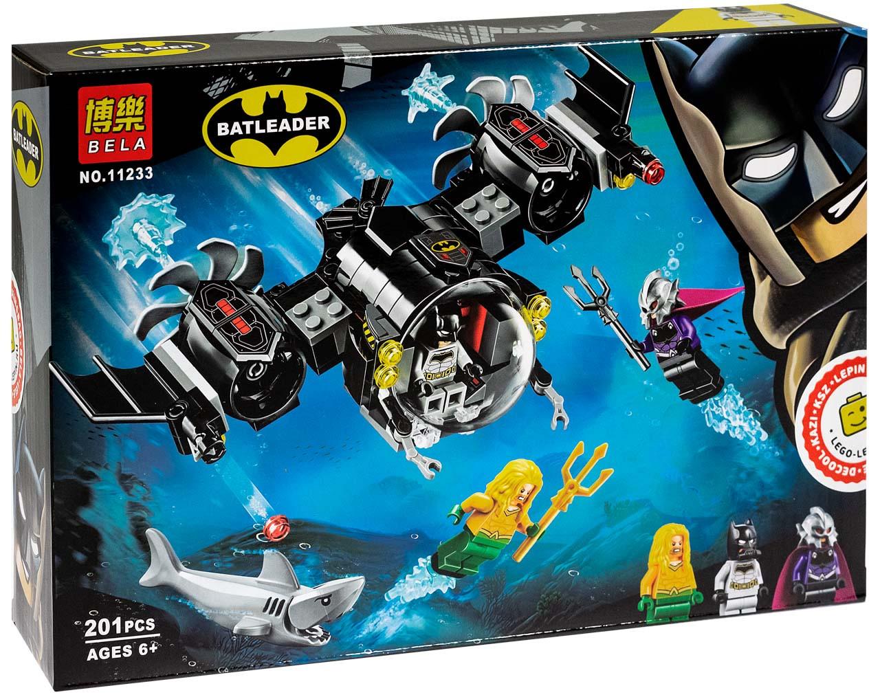 """Bela Batleader 11233 Конструктор """"Подводный бой Бэтмена"""" (Аналог LEGO 76116)"""