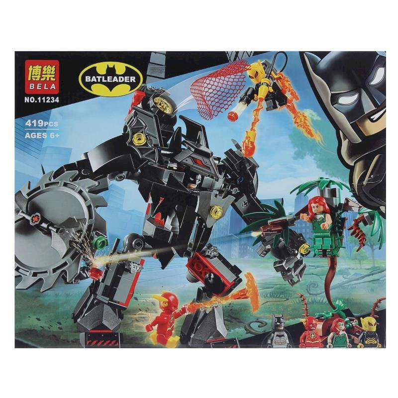 """Bela Batleader 11234 Конструктор """"Робот Бэтмена против робота Ядовитого Плюща"""" (Аналог LEGO 76117)"""