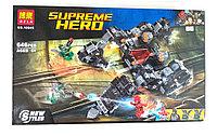 """Bela Supreme Hero 10845 Конструктор """"Лига Справедливости: Сражение в туннеле"""" (Аналог LEGO 76086)"""
