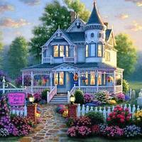 """Картины по номерам  """"Домик в цветах"""""""