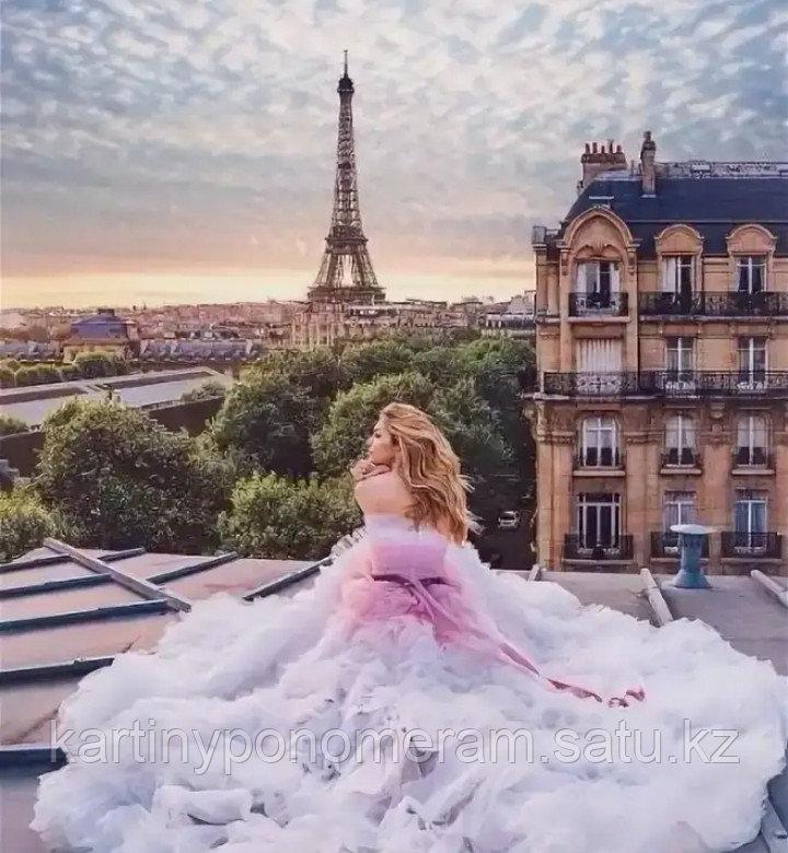 """Картина по номерам """"Парижанка"""""""