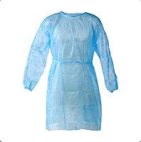 Защитный одноразовый халат из спанбонда