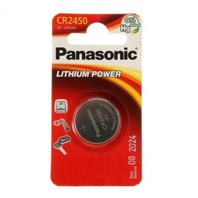 Батарейка литиевая дисковая Panasonic Power Cells CR2450/B1 /
