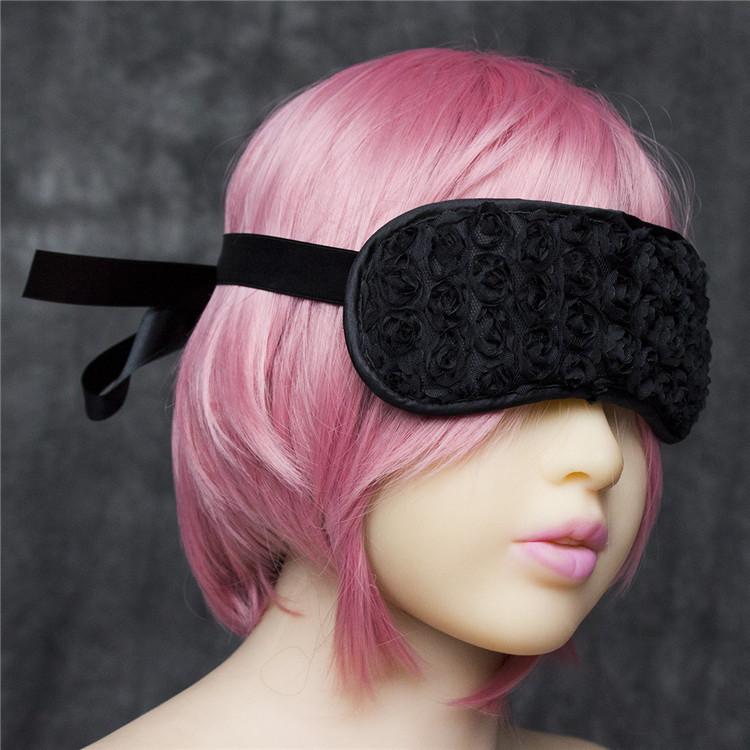 Чёрная текстильная маска для глаз