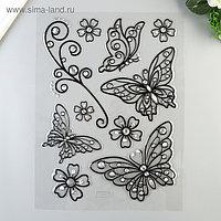 """Объёмные наклейки Room Decor """"Ажурные бабочки"""" 41х29 см"""