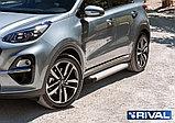 """Порог-площадка """"Silver"""" F173AL + комплект крепежа, RIVAL, Hyundai Tucson 2015-, фото 3"""