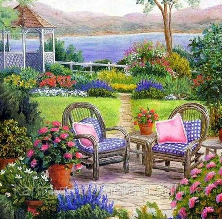 """Картины по номерам  """"Сад для двоих"""""""