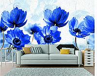 """Фотообои печать """"Цветы"""" в голубых оттенках"""