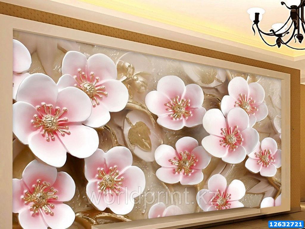 """Фотообои печать """"Розовые цветы"""""""