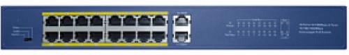 PSD218 - PoE Коммутатор (16 PoE + 2 Uplink порта).