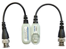 PVB311 - Видеобалун 1-канальный, разъём BNC - хвост. Комплект - 2 шт.