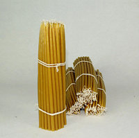 Монастырские Маканые свечи 2 сорт  500 гр высота 230 мм диаметр 9 мм в пачке 50 штук, фото 1
